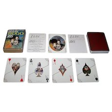 """Grimaud """"Victor Hugo"""" Playing Cards, Dominique Asselot Designs, c.1985"""