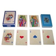"Twin Decks Angel ""Flora"" Playing Cards, c.1982 ($35/ea.)"