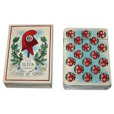 """Grimaud """"Guerre de Vendee -- Les Bleus"""" Playing Cards, c.1982"""
