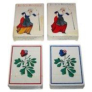 "Twin Decks Grimaud ""Jeu de la Revolution"" Playing Cards, Silvia Maddonni Designs, c.1988 ($35/ea. separately)"