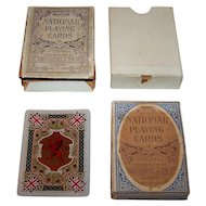 """Chas. Goodall & Son, Ltd. """"National"""" Playing Cards, Lion Rampant of Scotland, c.1900"""