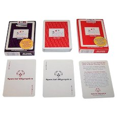 "Twin Decks Hoyle ""Special Olympics"" Playing Cards, 30th Anniversary, c.1998 ($10/ea. separately)"