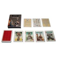 "Naipes Comas ""Gaudi"" Playing Cards, Antoni Gaudi Buildings, Josep Opisso Designs, c.1990"