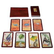 """Nürnberger Spielkarten Verlag """"Spielkarten"""" Playing Cards, Christian Mischke Designs, Ltd. Ed. (____/2200), New Suits, No Revoke, c.1998"""