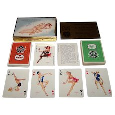 "Double Deck Brown & Bigelow (Redi-Slip) ""Comme Ci, Comme Ca"" (aka ""53 Vargas Girls"", ""Vargas Vanities"") Pin-Up Playing Cards, Alberto Vargas Designs, c.1953"