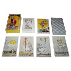 "Muller ""Rider Tarot Deck"" Tarot Cards, Pamela Colman Smith Designs, Conceived by Arthur Edward Waite, U.S. Games Systems Publisher, c.1971"