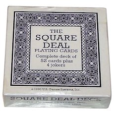 "Carta Mundi ""Square Deal"" Novelty Playing Cards, U.S. Games Systems Publisher, c.1990"