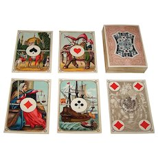 "Dondorf Playing Cards, ""Luxus-Spielkarte Vier-Erdteile"" (""Luxury Playing Cards Four Continents"") No. 207, Friedrich Karl Hausmann Designs, c.1873-1885"