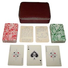 "Double Deck Regal & Wade ""Kling Magnetic Steel"" Playing Cards, c.1970"