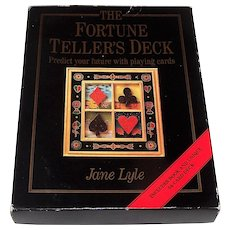 "St. Martin's Press ""The Fortune Teller's Deck"" Fortune Telling Cards, w/ Book, Jane Lyle Designs and Neil Breeden Artwork, c.1995"