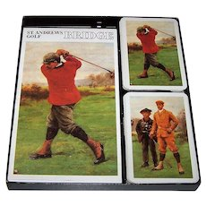 "Piatnik ""St. Andrews Golf"" Bridge Set, w/ Cards and Score Pad"