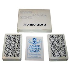 "Double Deck F.X. Schmid ""Aero Lloyd"" Canasta Playing Cards, c.1980s"