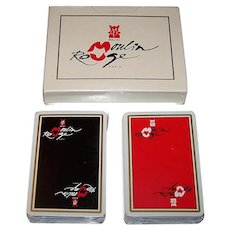 "Double Deck Grimaud ""Bal du Moulin Rouge"" Playing Cards"