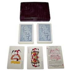 "Double Deck Arrco ""Northbrook"" All-Plastic Canasta Cards, c.1950s"