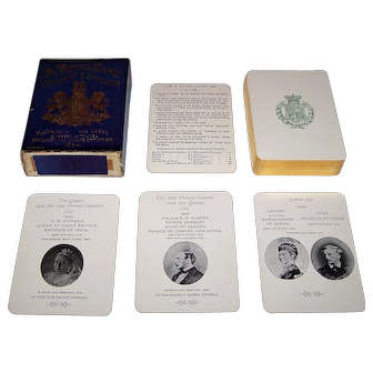 """A Royal Game"" Happy Families Card Game, ""Her Majesty the Queen,"" Queen Victoria Children and Grandchildren, c.1896"