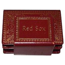 """Custom Boston Red Sox """"Bookshelf Playing Card Holder,"""" Estate of Bobby Doerr, c.1950"""