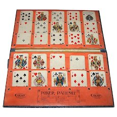 "Court Series ""Poker Patience"" Set w/ Original ""Little Duke"" Patience Playing Cards, No Instructions, c.1908-1910"