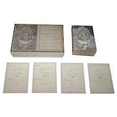"Eleanor H. Stephens ""Jupiter and his Court"" Mythology Card Game, Quartet Type, c.1892"