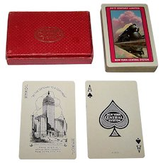 "USPC ""New York Central System"" Railroad Playing Cards, ""20th Century Limited,"" c.1940"