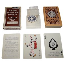 "Canadian Playing Card Co. ""Union Insurance Society of Canton"" Playing Cards, c.1939"