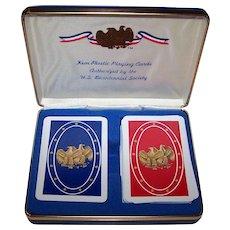 "Double Deck Kem ""Bicentennial"" Playing Cards, c.1976"