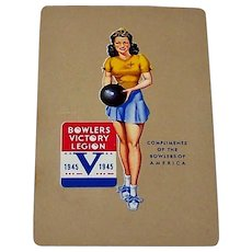 """Western """"Bowlers Victory Legion"""" Pin-Up Playing Cards (52/52, NJ), c.1945"""