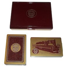 """Double Deck Brown & Bigelow """"Duluth, Missabe and Iron Range"""" Railroad Playing Cards, c.1960"""