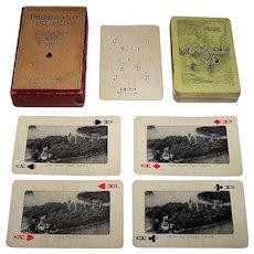 "Santway Photo-Craft Company ""Thousand Islands"" Souvenir Playing Cards, c.1934"