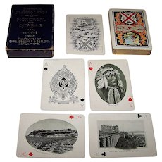 """Charles Goodall & Son, Ltd. """"Souvenir Playing Cards: Montreal and Quebec,"""" c.1905"""