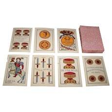 "USPC ""Los Leones Naipes #71"" Spanish Playing Cards, Cadiz Pattern, c.1897"