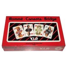 """Double Deck ASS """"VIP"""" Playing Cards, G.M. Heesch Designs, c.1986"""