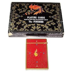"Fournier ""The Firebird"" Playing Cards, Lucy Maxym ""Russian Lacquer, Legends, and Fairy Tales,"" Yury Shakov Designs, c.1984 (Single Deck, Double Box)"