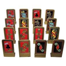 16 Vicbridge Lamp Company Brass Place Cards, Art Deco Designs, c.1930