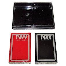 """Double Deck Brown & Bigelow (Redislip) """"Norfolk & Western"""" Railroad Playing Cards, c.1982"""