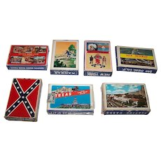 "7 ""Made in Japan"" Decks of Souvenir Playing Cards Made in Hong Kong by Windmill/Ace/Dainippon, $3/ea.: Hot Springs National Park, Knott's Berry Farm, Lake George, Dixie, San Diego, Dodge City, and Texas"