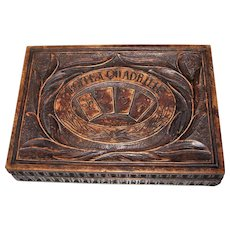 "French Folk Art Carved Wood ""Boite à Quadrille"" (""Quadrille Box""), c.1750"