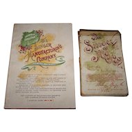 "Singer Mfg. Co. ""Costumes of All Nations"" Souvenir Cards w/ Booklet, 1893 Columbian Exposition, c.1893"