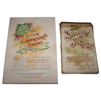 """Singer Mfg. Co. """"Costumes of All Nations"""" Souvenir Cards w/ Booklet, 1893 Columbian Exposition, c.1893"""