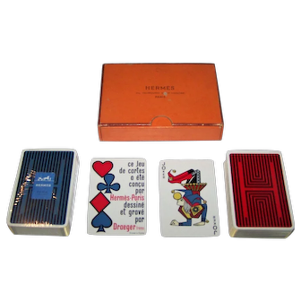 """Double Deck Draeger Frères """"Hermes"""" Playing Cards, c.1965"""