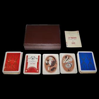 "Double Deck Carta Mundi ""La Traviata"" Playing Cards, Seven Arts for Afred Dunhill, Ltd. Publisher, Erté Designs, Limited Edition (___/5000), c.1981"