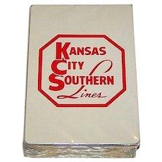 """Brown & Bigelow (Redislip) """"Kansas City Southern"""" Playing Cards, c.1975"""