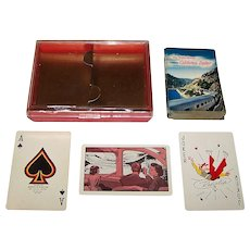 "Brown & Bigelow ""Western Pacific Vista Dome California Zephyr"" Railroad Playing Cards, c.1952"