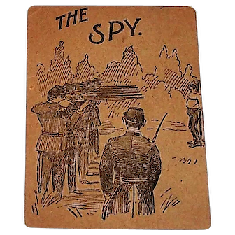 "Woolson Spice Company ""Spy"" Card Game, Lion Coffee Advertising Premium, Civil War Theme, c.1893"