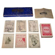 """C.M. Clark Publishing Co., Inc. """"Stage"""" Card Game, c.1904"""
