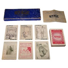 "C.M. Clark Publishing Co., Inc. ""Stage"" Card Game, c.1904"