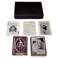 """2 Decks Kalamazoo """"Smart Set #400"""" Playing Cards, """"A Sweet Tooth"""" and """"The Fortune Teller"""" Backs, c.1906, $65/ea. separately"""