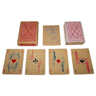 "Ets. Mesmaeker Freres ""Union Fait la Force"" (""Unity Makes Strength"") Playing Cards, Van Mierle Proost Publisher, c.1945"
