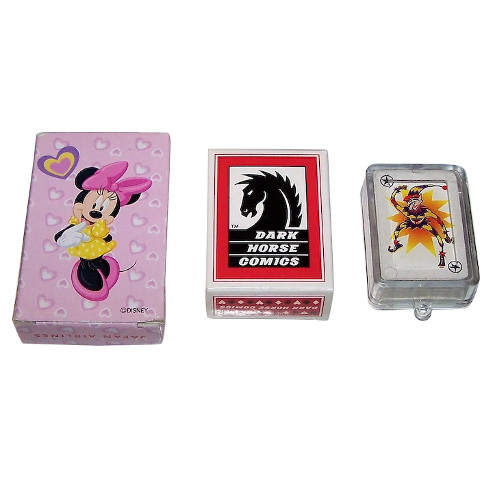"""3 Decks Patience and Mini-Patience Cards w/Animation, $5/ea : (i) Dainippon  """"Minnie Mouse"""" Patience for JAL"""
