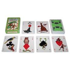 """Editions Dusserre """"Jeu des Animaux"""" Playing Cards, Moncla Designs, c.1980"""