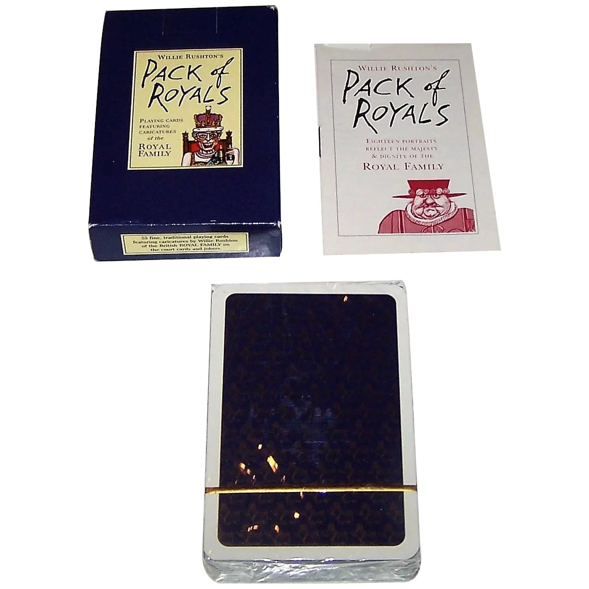 Pack of Royals by Willy Rushton Piatnik Playing Cards Single Deck